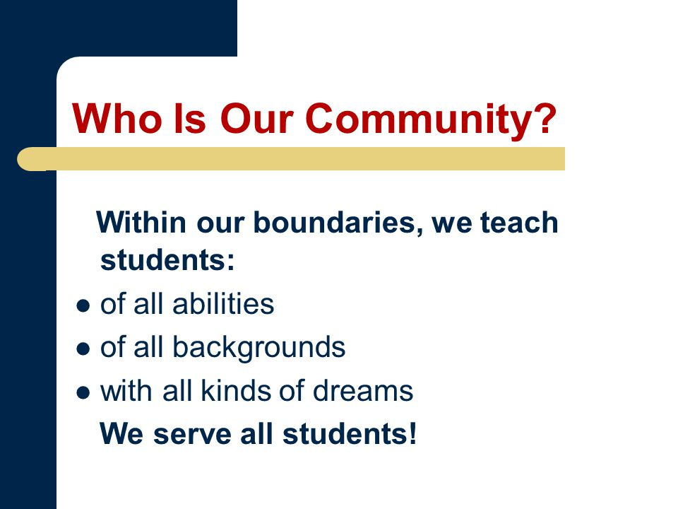 Who Is Our Community.