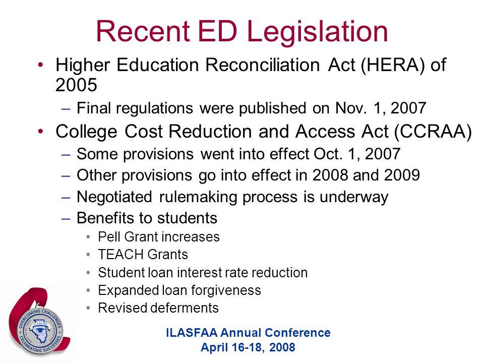 ILASFAA Annual Conference April 16-18, 2008 General Title IV Eligibility Criteria U.S.