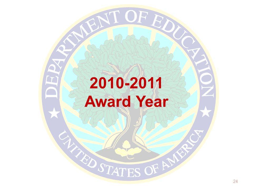 2010-2011 Award Year 24