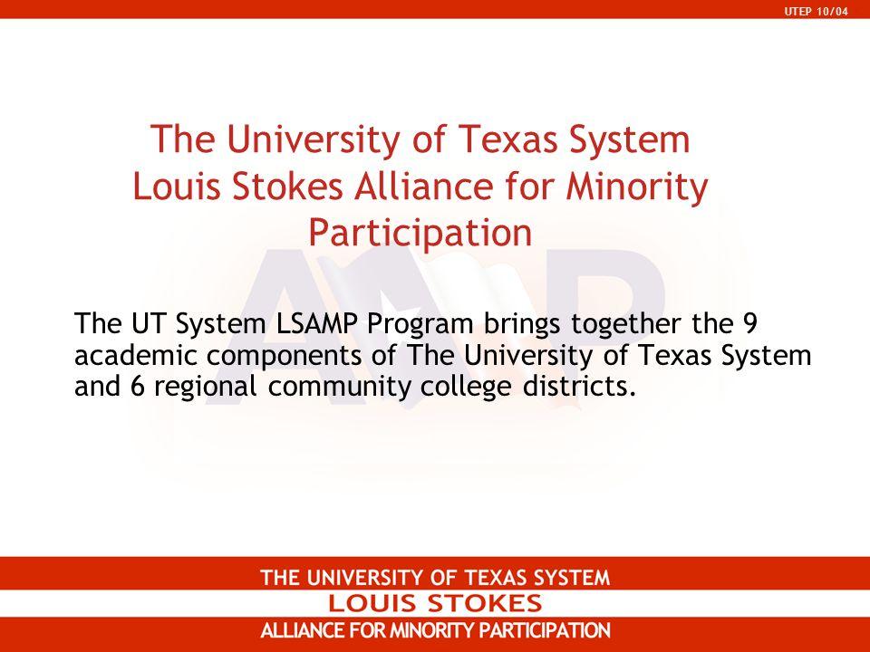 UTEP 10/04 UT System Universities UT Arlington (1965) UT Austin (1882) UT Brownsville (1989) UT Dallas (1969) UT El Paso (1967) UT Pan American (1989) UT Permian Basin (1969) UT San Antonio (1969) UT Tyler (1979)