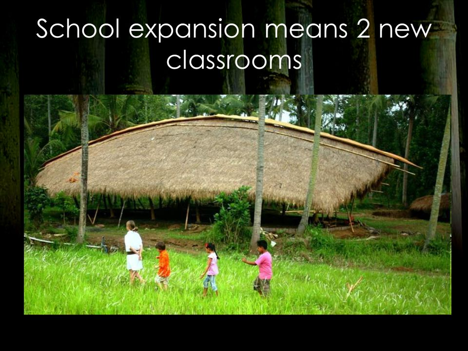 School expansion means 2 new classrooms