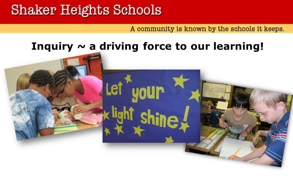 Inquiry ~ a driving force to our learning!