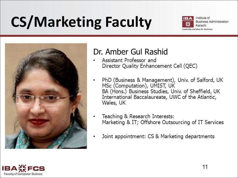 11 CS/Marketing Faculty Dr.
