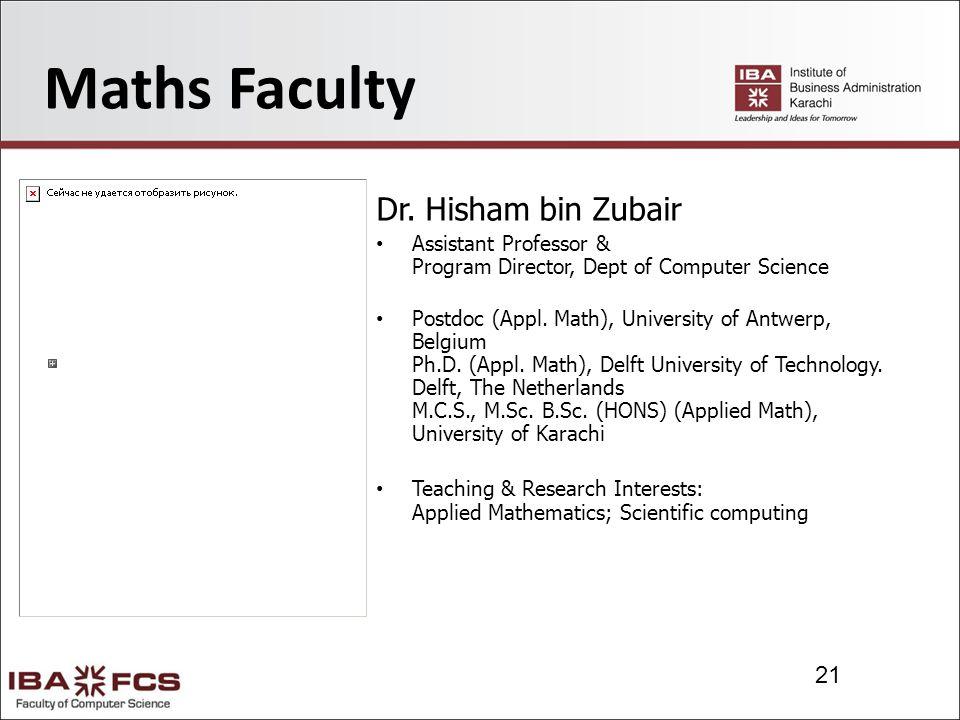 21 Maths Faculty Dr.