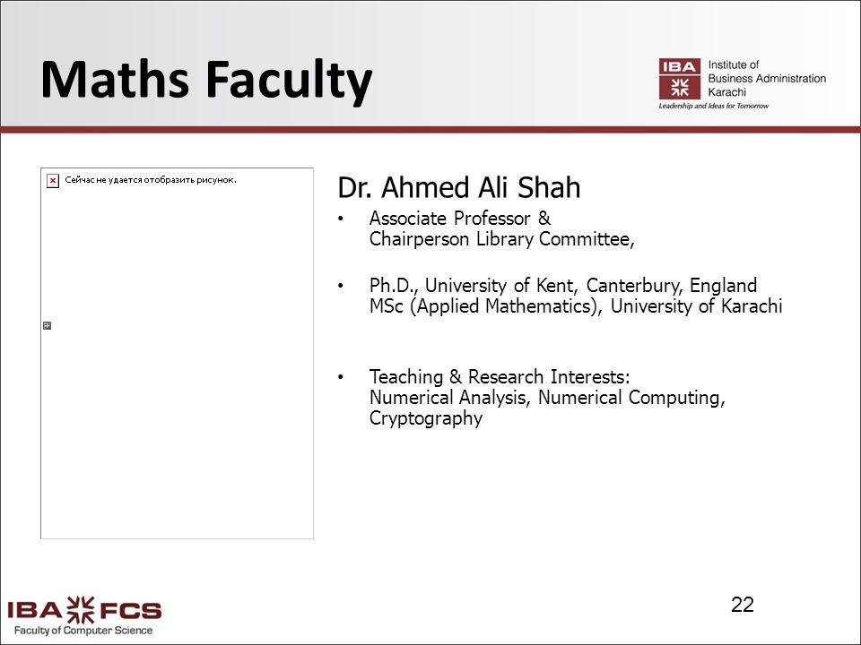 22 Maths Faculty Dr.