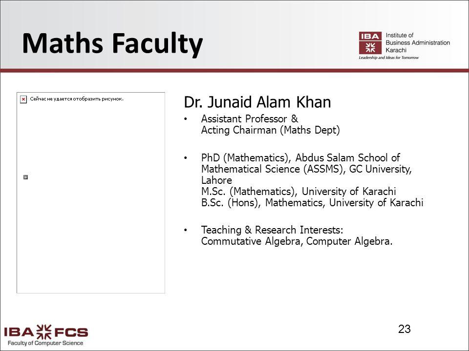 23 Maths Faculty Dr.