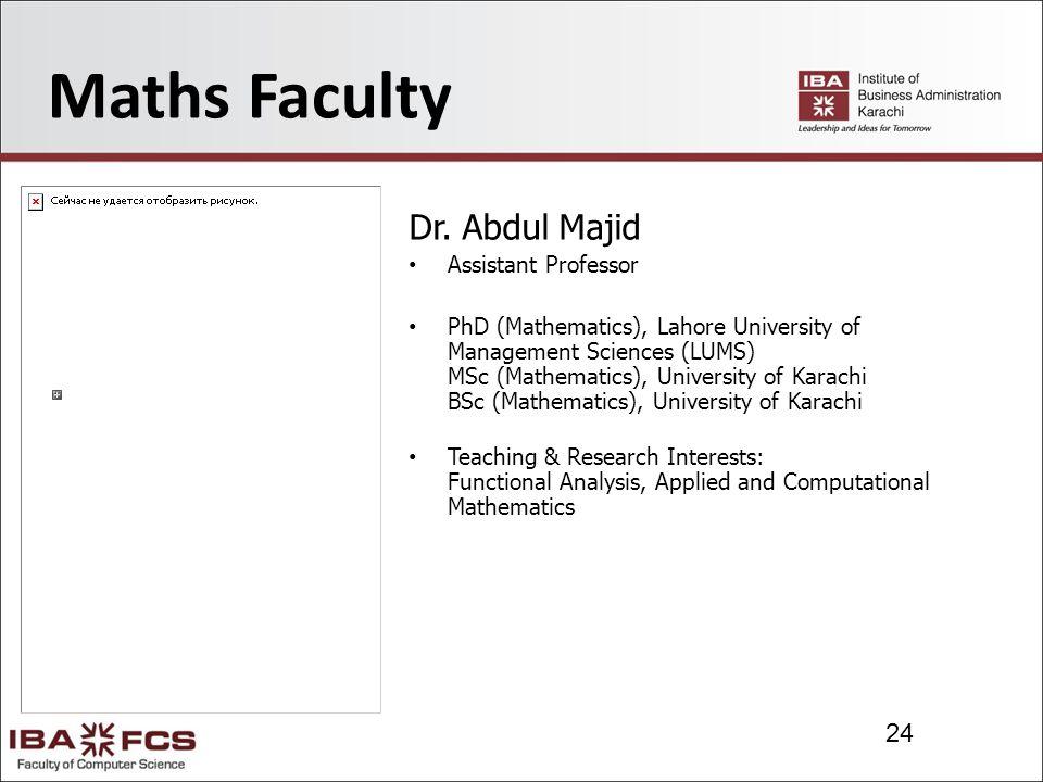 24 Maths Faculty Dr.