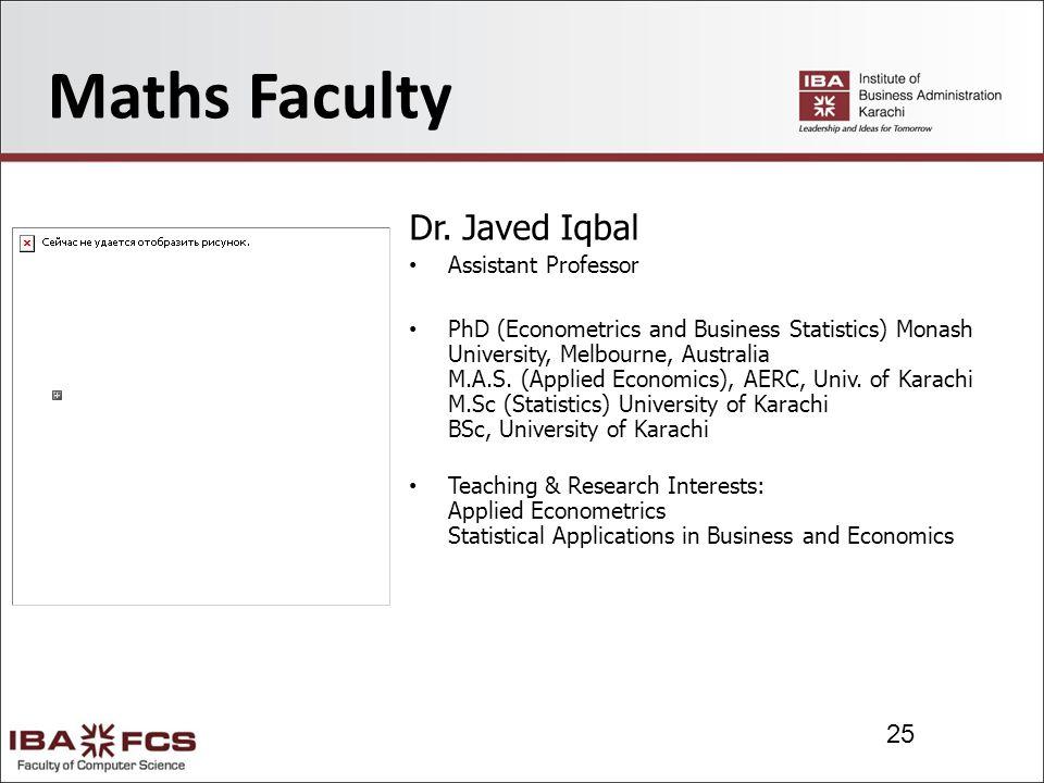 25 Maths Faculty Dr.