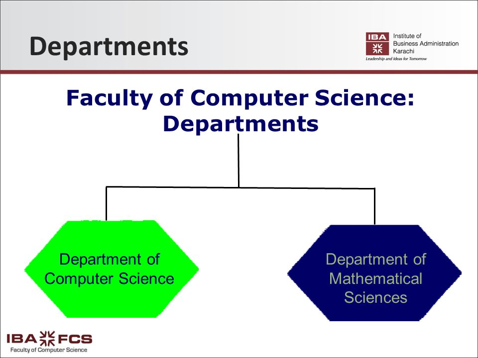 Departments Faculty of Computer Science: Departments Department of Mathematical Sciences Department of Computer Science