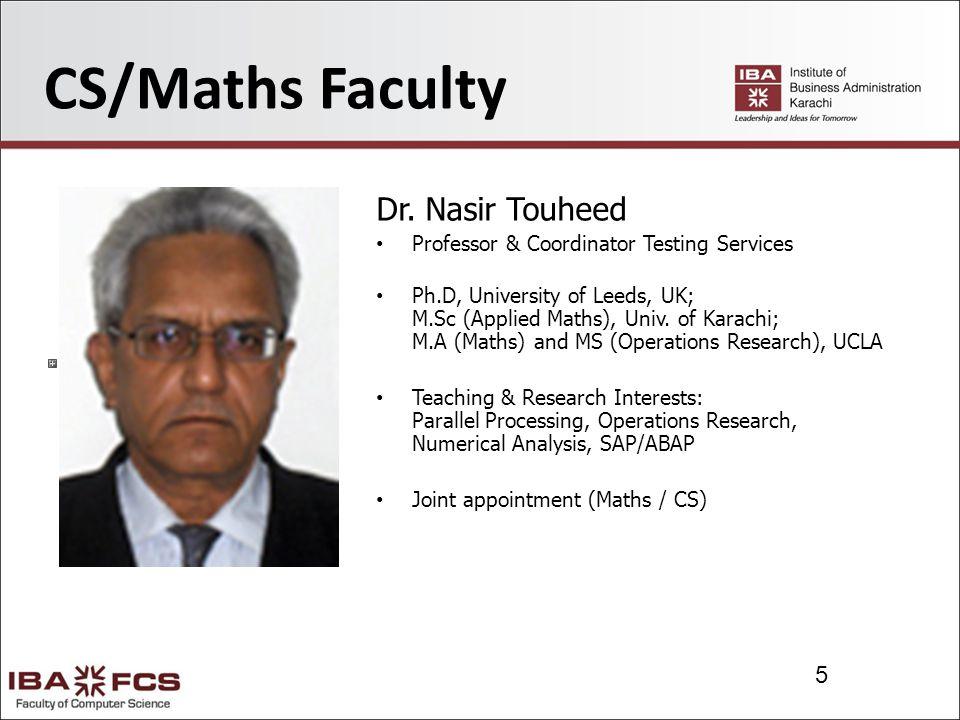 16 CS Faculty Waseem Arain Assistant Professor PhD Candidate at IBA M.S.