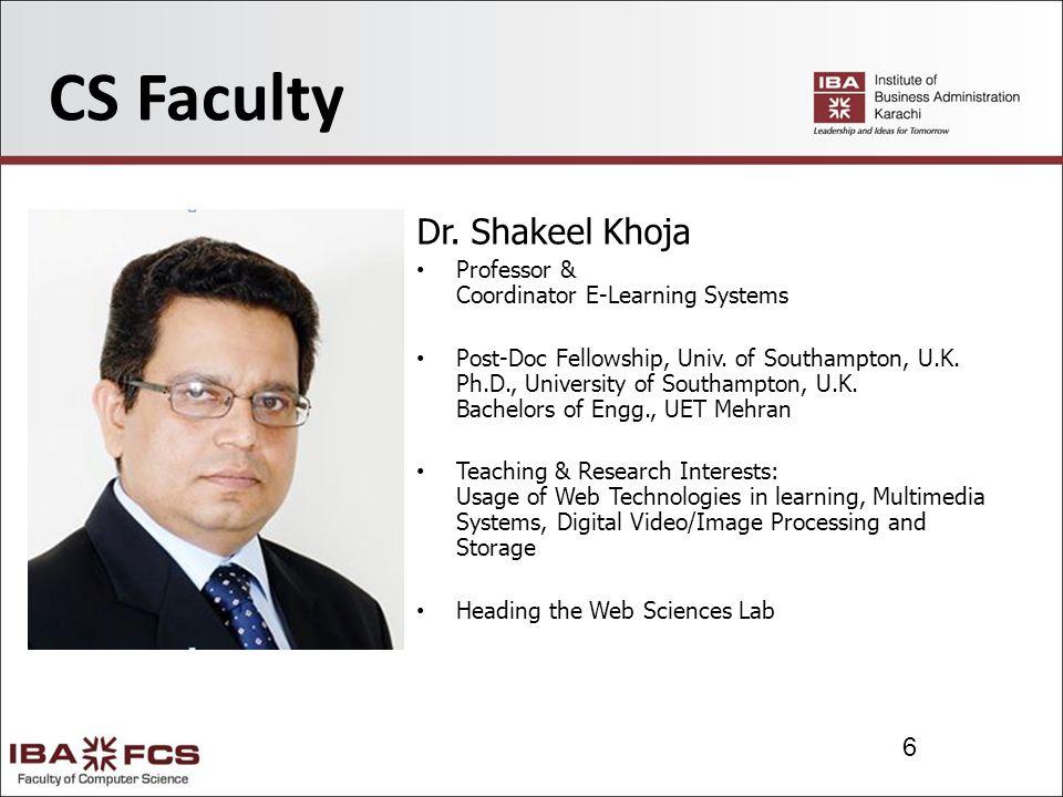 6 CS Faculty Dr.