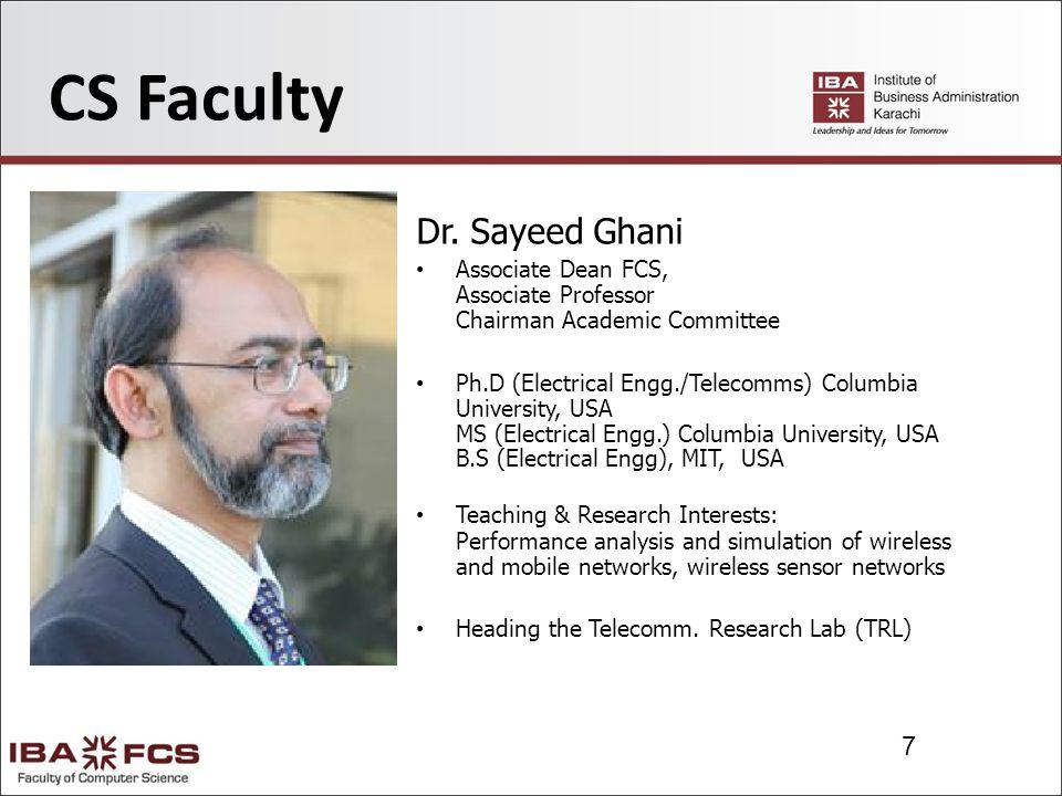 28 Maths Faculty Yaseen Meenai Lecturer M.Sc.(Statistics), KU, Pakistan Teaching & Research Interests: Statistics, Statistical Inference