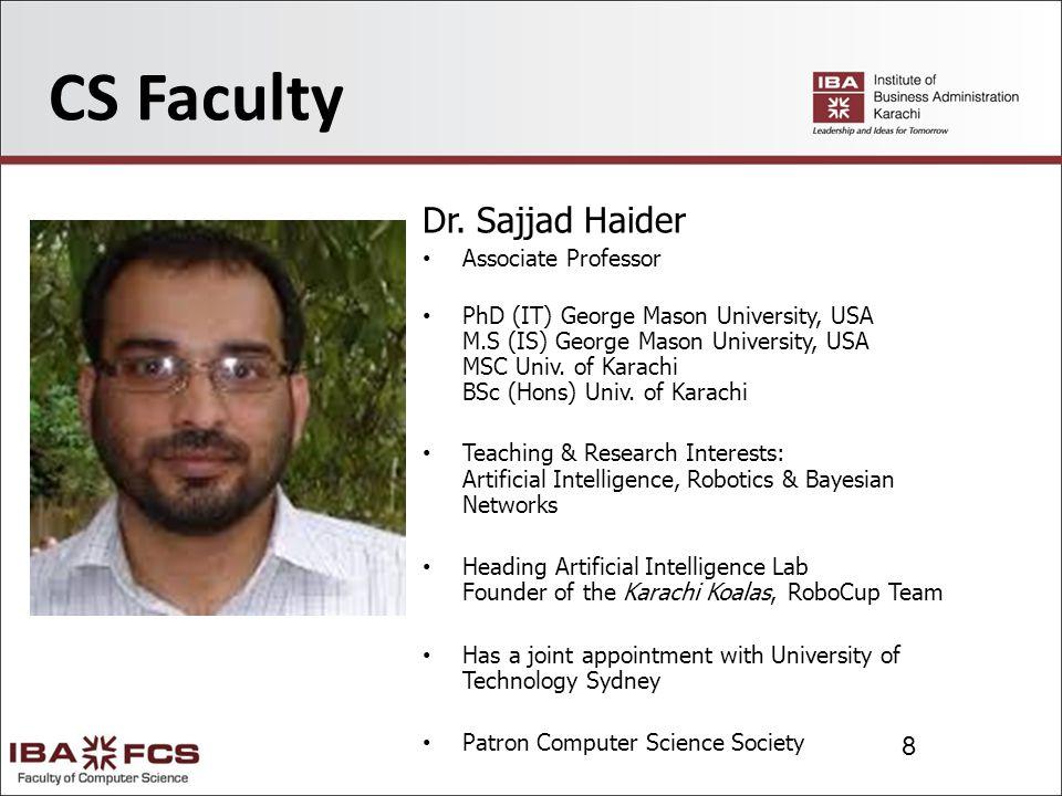 9 CS Faculty Dr.