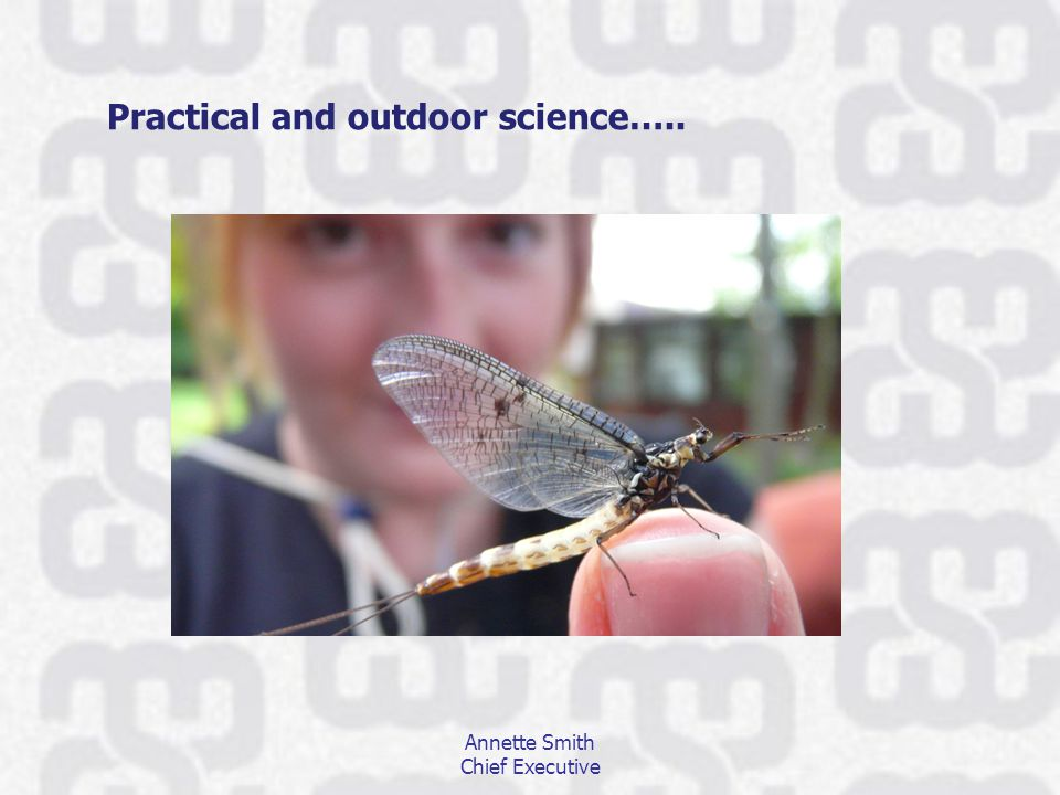 Practical and outdoor science….. Annette Smith Chief Executive