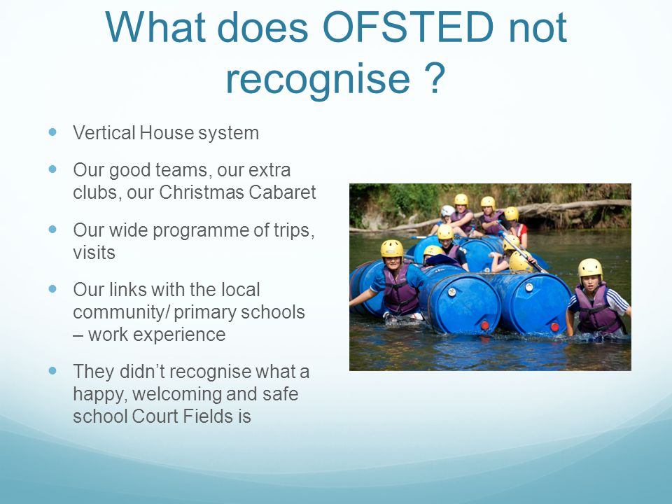 What does OFSTED not recognise .