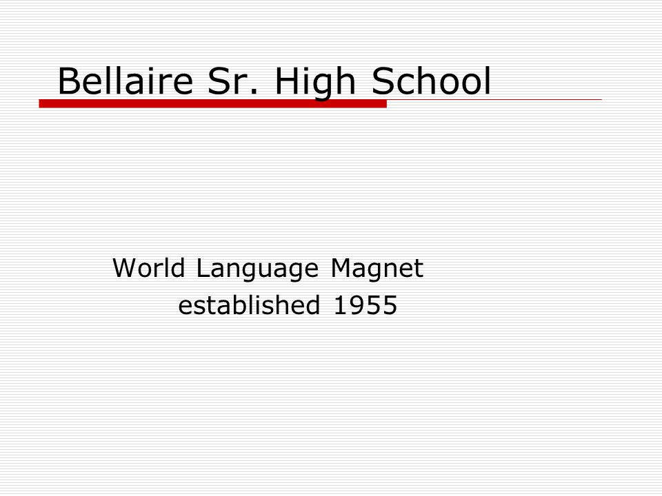 The Bellaire Mission Bellaire High School's mission is to provide a college-bound culture of quality education through academics, fine arts, athletics and clubs/organizations.