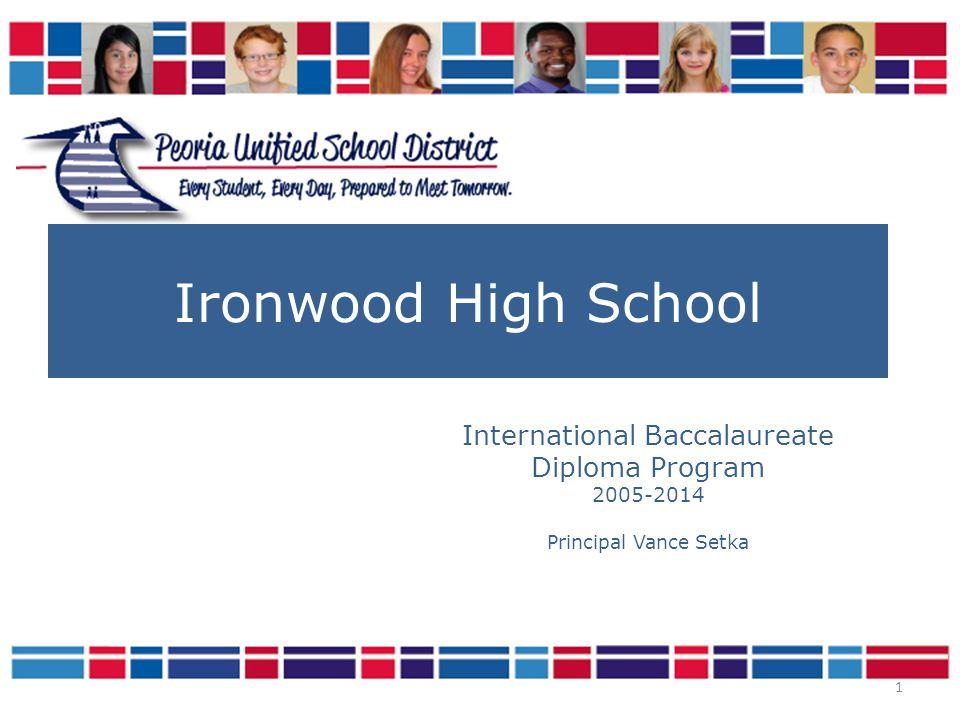 Ironwood IB Diplomas Awarded Year# of Diplomas 20077 20088 200925 201023 201117 201226 201332 2014??