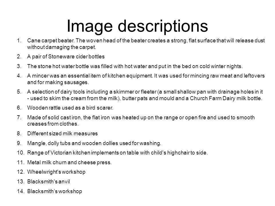 Image descriptions 1.Cane carpet beater.