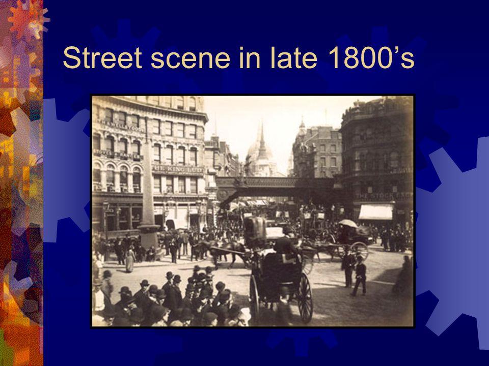 Street scene in late 1800's