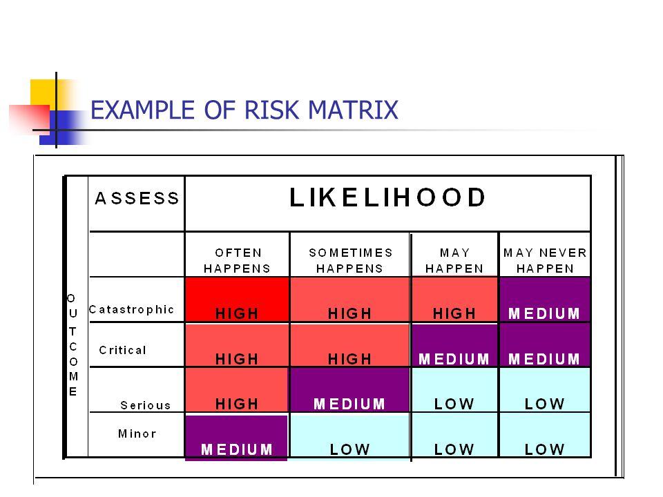 EXAMPLE OF RISK MATRIX