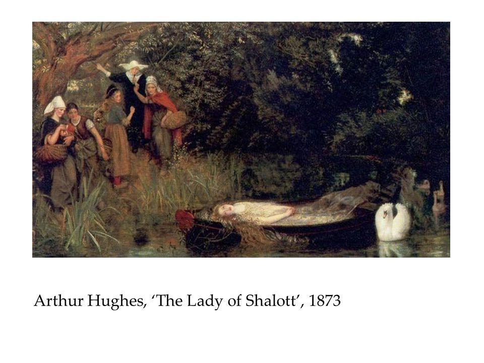 Arthur Hughes, 'The Lady of Shalott', 1873