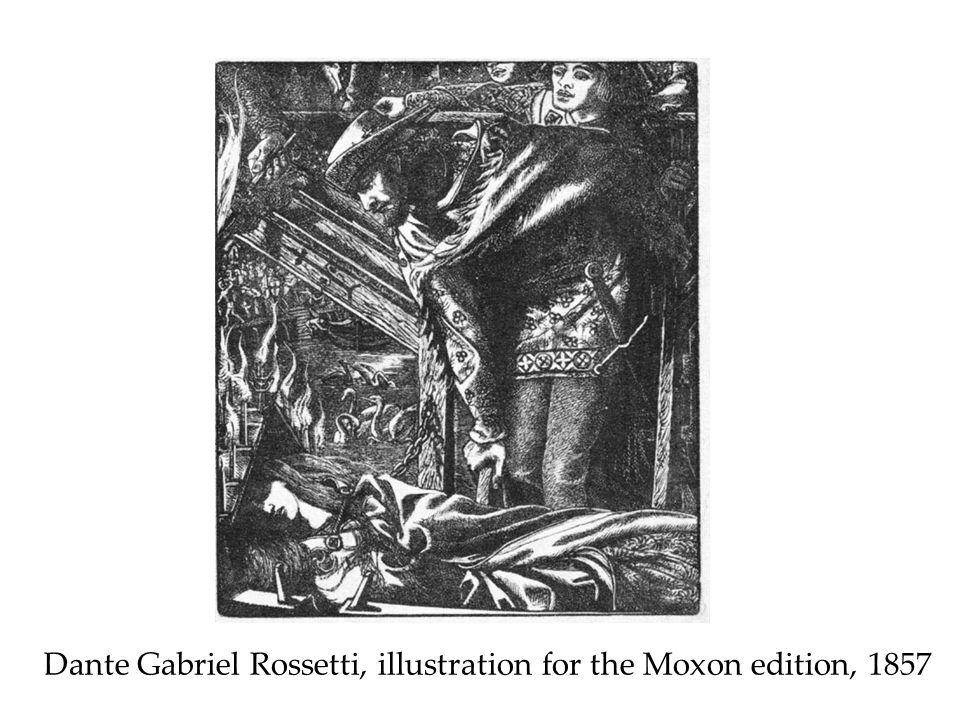 Dante Gabriel Rossetti, illustration for the Moxon edition, 1857