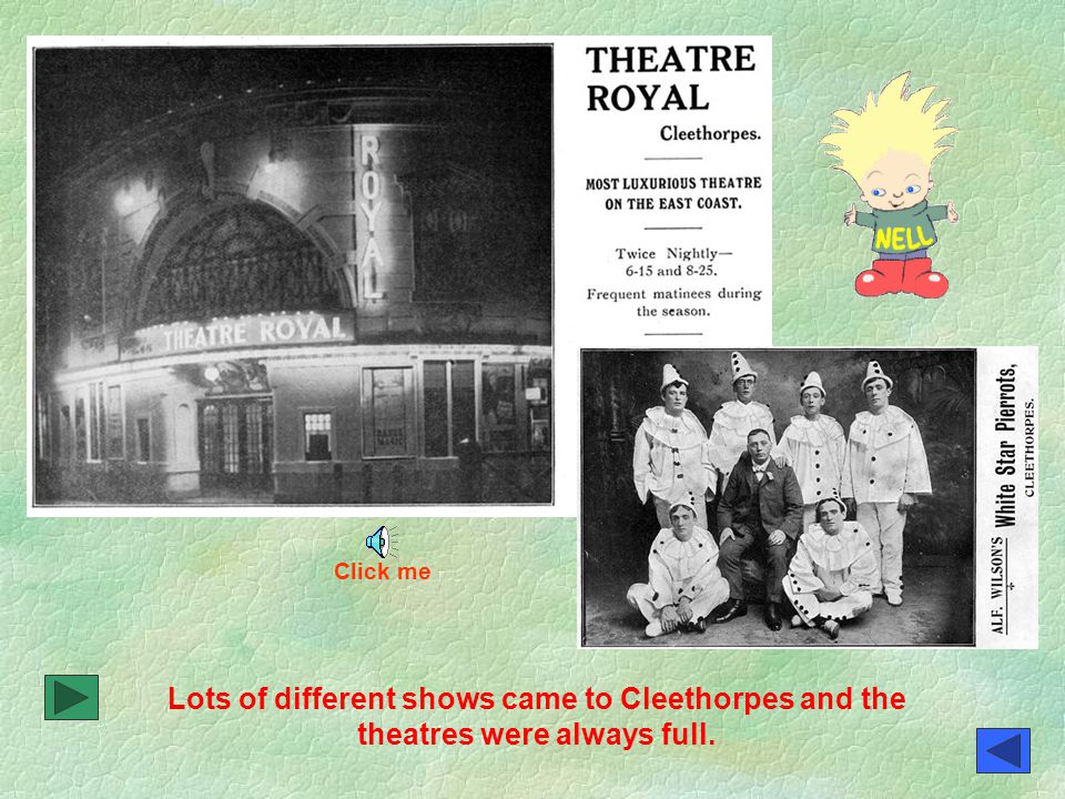 Roll up, Roll up. The Empire Theatre was a very popular place for entertainment.