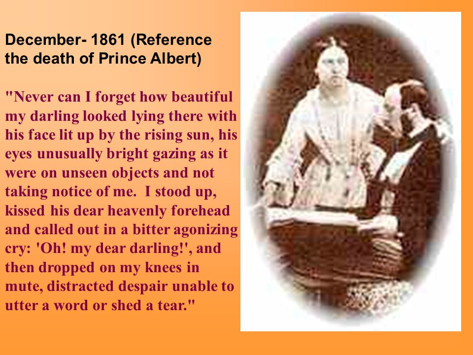 December- 1861 (Reference the death of Prince Albert)