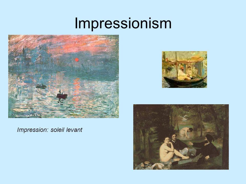 Impressionism Impression: soleil levant