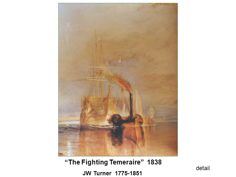 The Fighting Temeraire 1838 JW Turner 1775-1851 detail