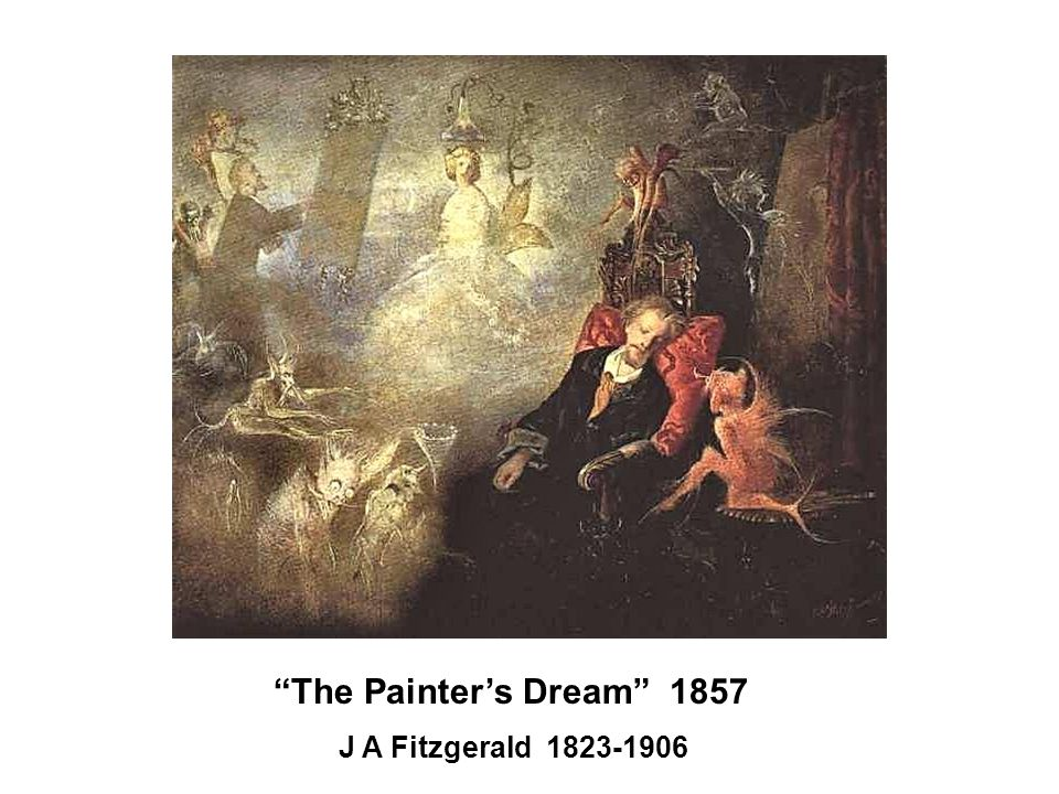 The Painter's Dream 1857 J A Fitzgerald 1823-1906
