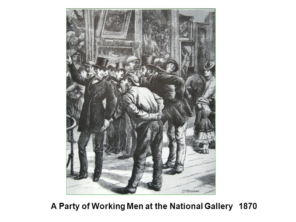 A Party of Working Men at the National Gallery 1870
