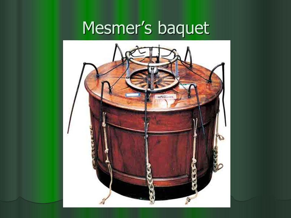 Mesmer's baquet