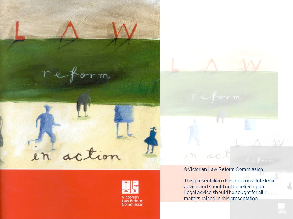 Victorian Law Reform Commission Telephone 8619 8619 Free call 1300 666 555 www.lawreform.vic.gov.au