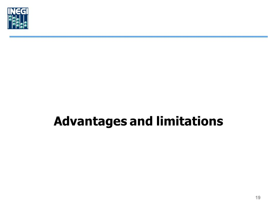 Advantages and limitations 19