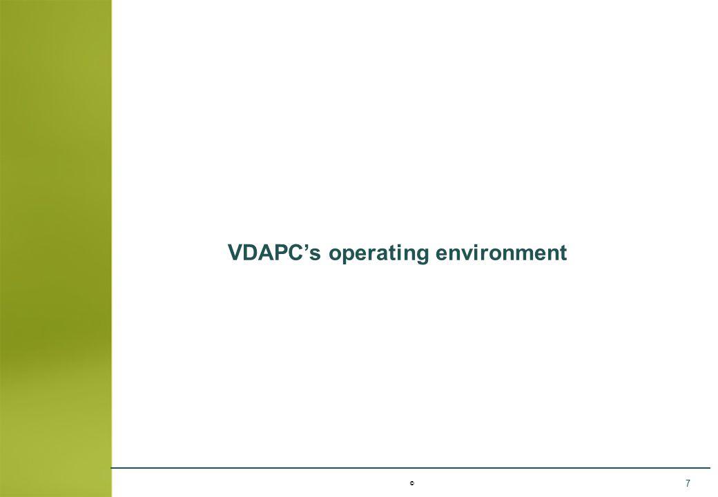 © 7 VDAPC's operating environment