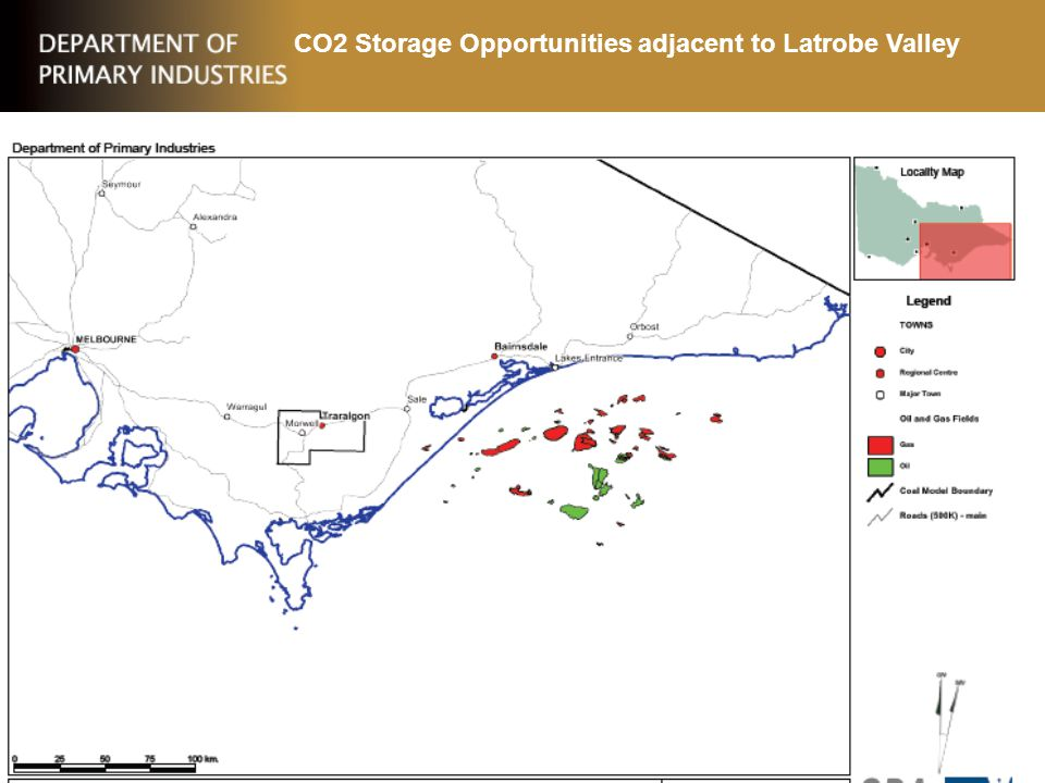 CO2 Storage Opportunities adjacent to Latrobe Valley