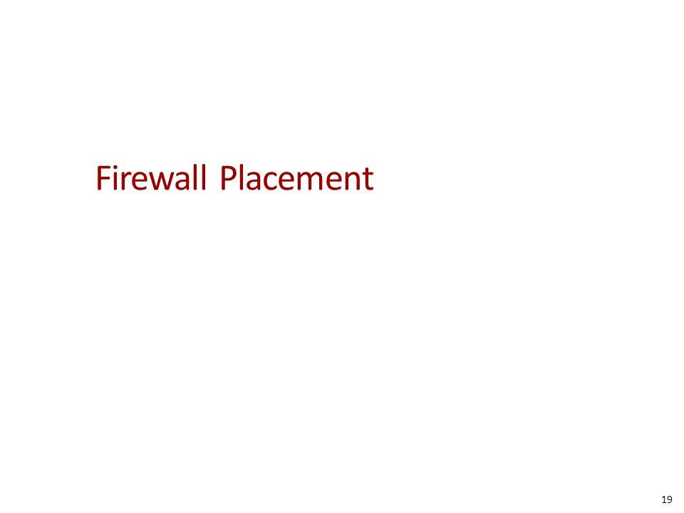 Firewall Placement 19