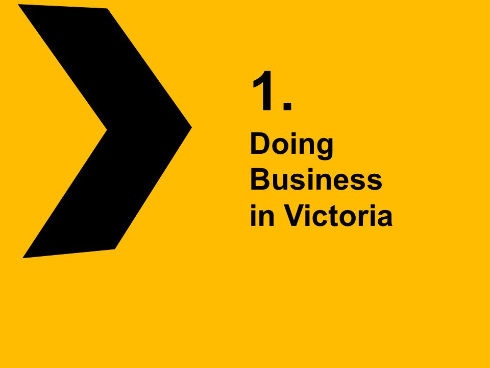 1. Doing Business in Victoria
