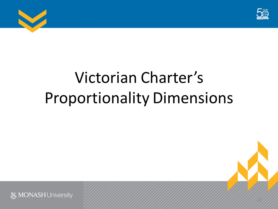 Victorian Charter's Proportionality Dimensions 16
