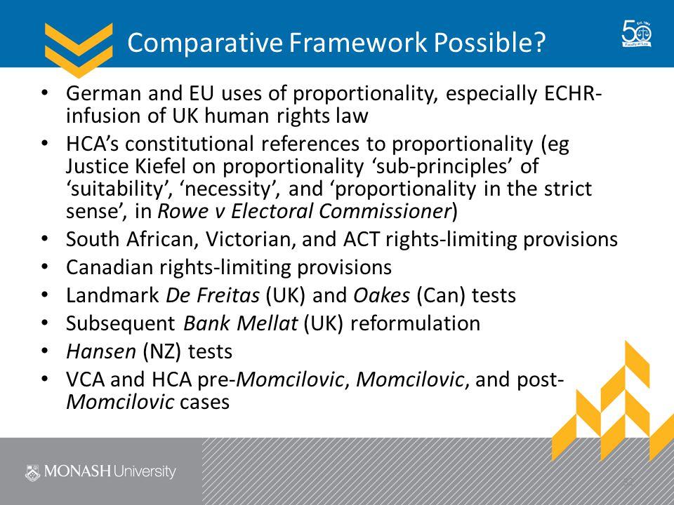 Comparative Framework Possible.