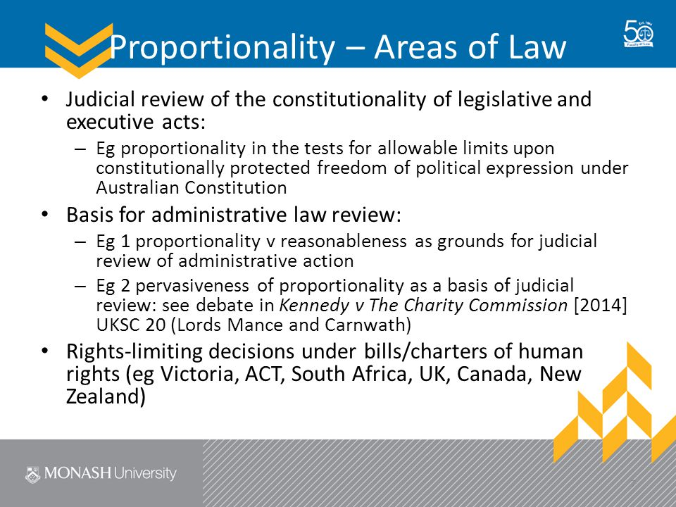 The Politics of Proportionality 1.Political legitimacy?: Appropriateness and leveraging of courts' rights-limiting decisions trumping others institutions' rights-limiting decisions 2.Institutional role?: What judicial role is constitutionally/legislatively allowed for rights- limiting decisions.