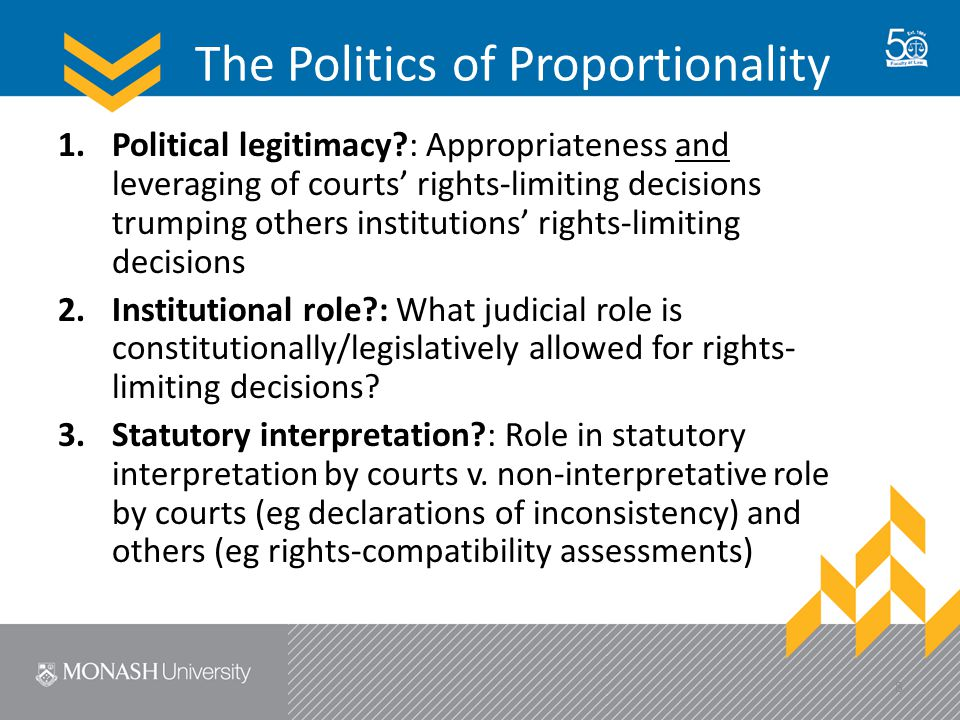 The Politics of Proportionality 4.Analytical tool?: A structured process of decision-making v.
