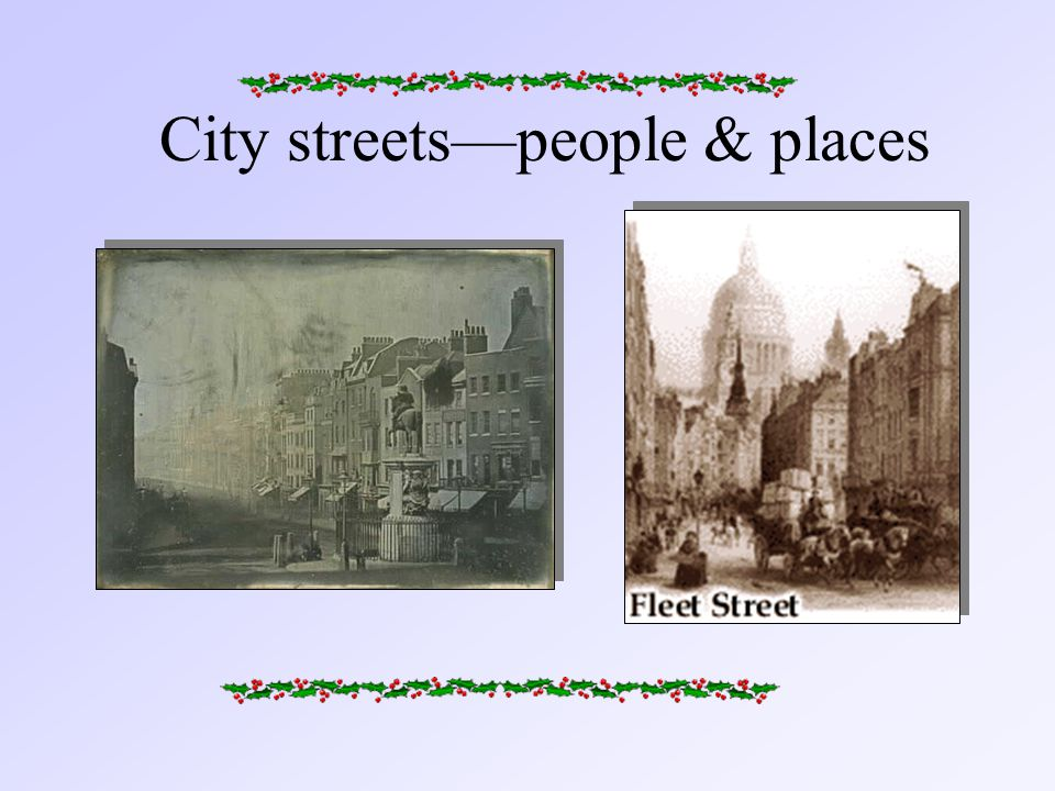 City streets—people & places