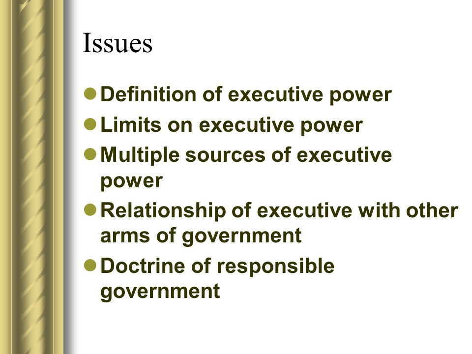 DEFINITION OF EXECUTIVE POWER