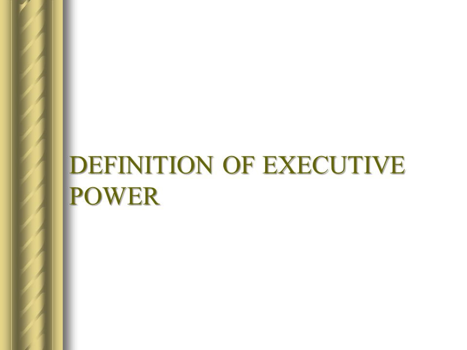 Commonwealth executive government Under our Constitution the executive power of the Commonwealth is exercisable by the Governor-General.
