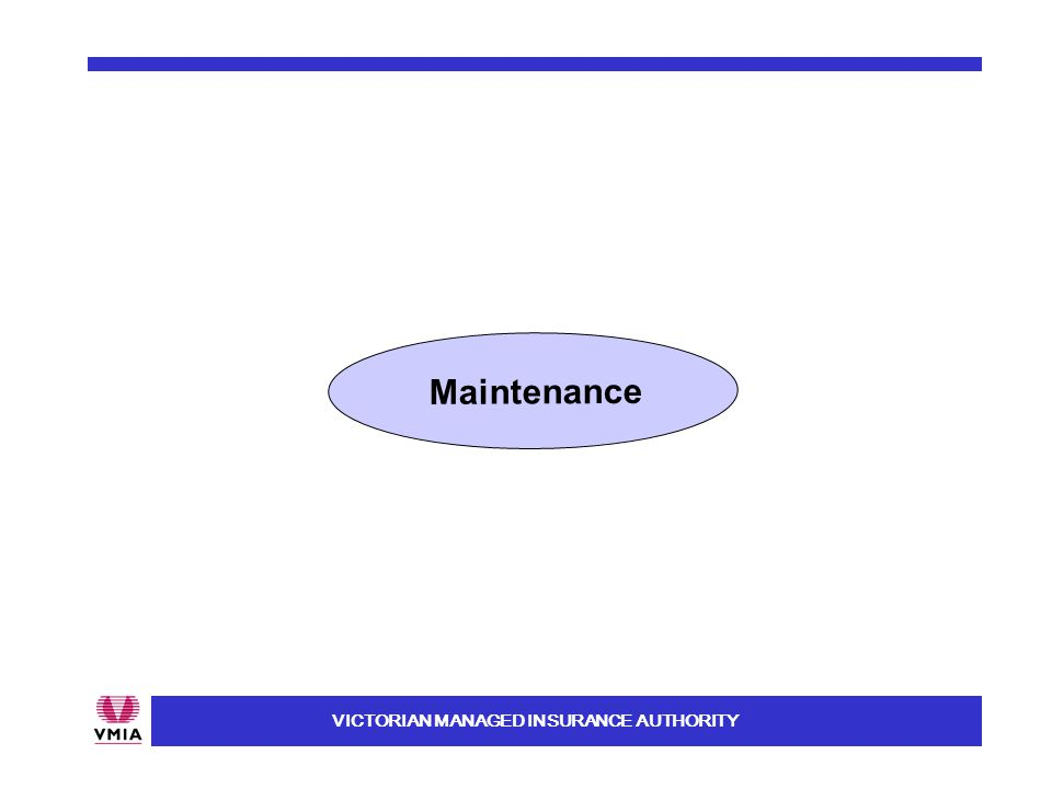 VICTORIAN MANAGED INSURANCE AUTHORITY Maintenance