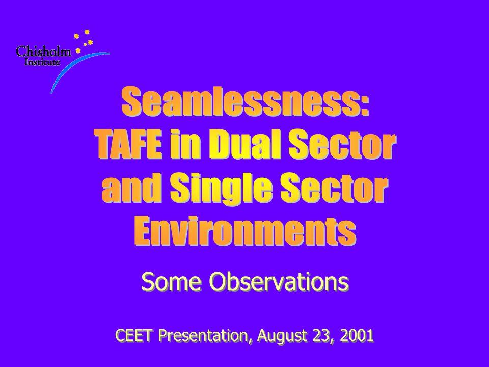Some Observations CEET Presentation, August 23, 2001 Some Observations CEET Presentation, August 23, 2001