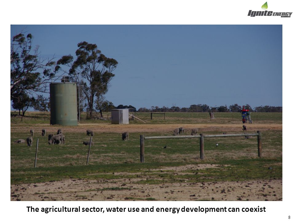 The agricultural sector, water use and energy development can coexist 8