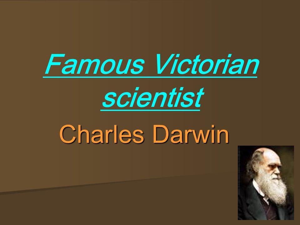 Famous Victorian scientist Charles Darwin